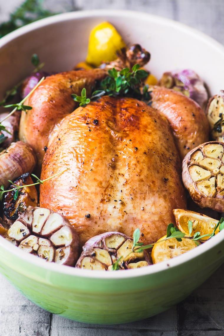 Roast Chicken with Garlic