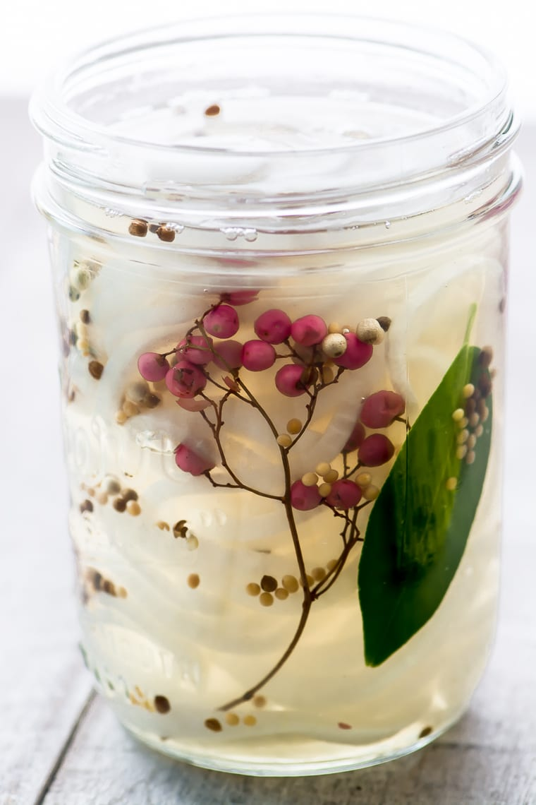 Quick Pickled Vidalia Onions in a jar