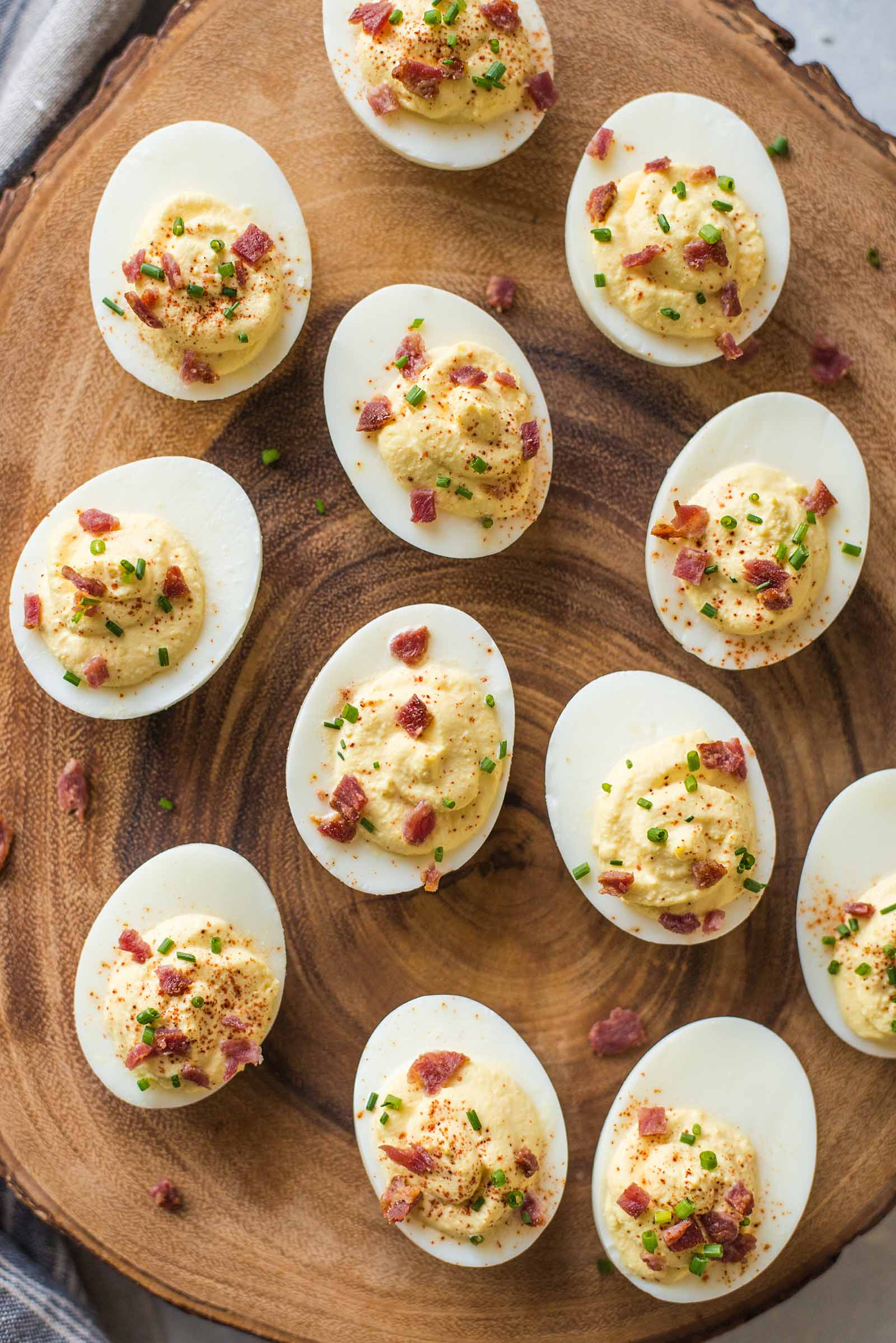 Sour Cream and Bacon Deviled Eggs ~ 25 Devilicious Eggs ~ Simply Recipes