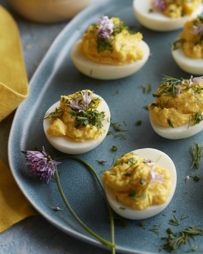 garlic herb deviled eggs