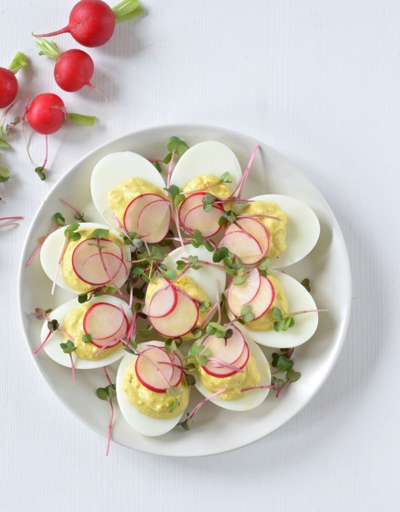 deviled eggs with yogurt
