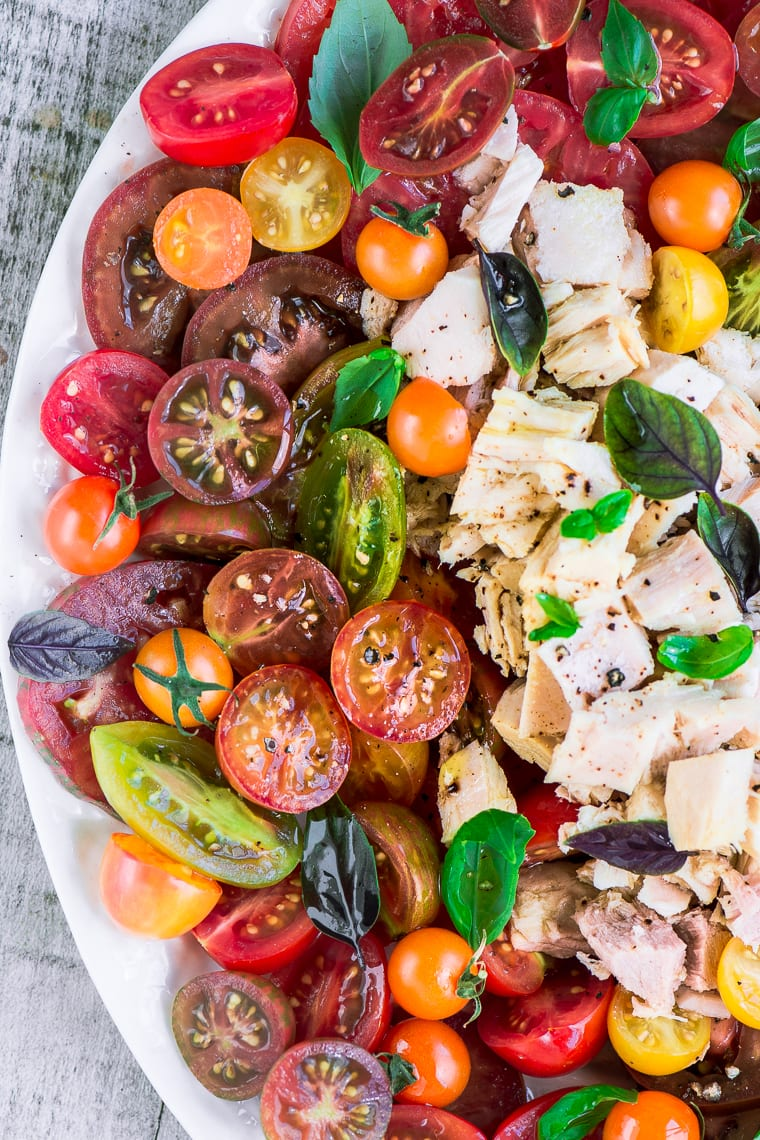 Best Heirloom Tomato Recipes ~ summer tomato and tuna salad