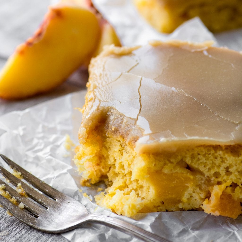 Brown Sugar Peach Cake