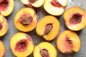 Ripe peaches for Peach Butter