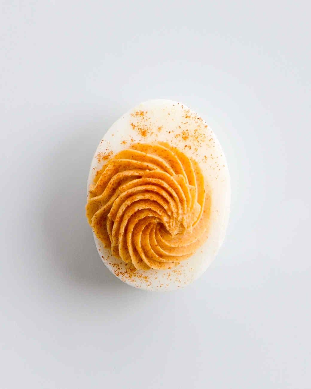 tomato pimenton deviled eggs