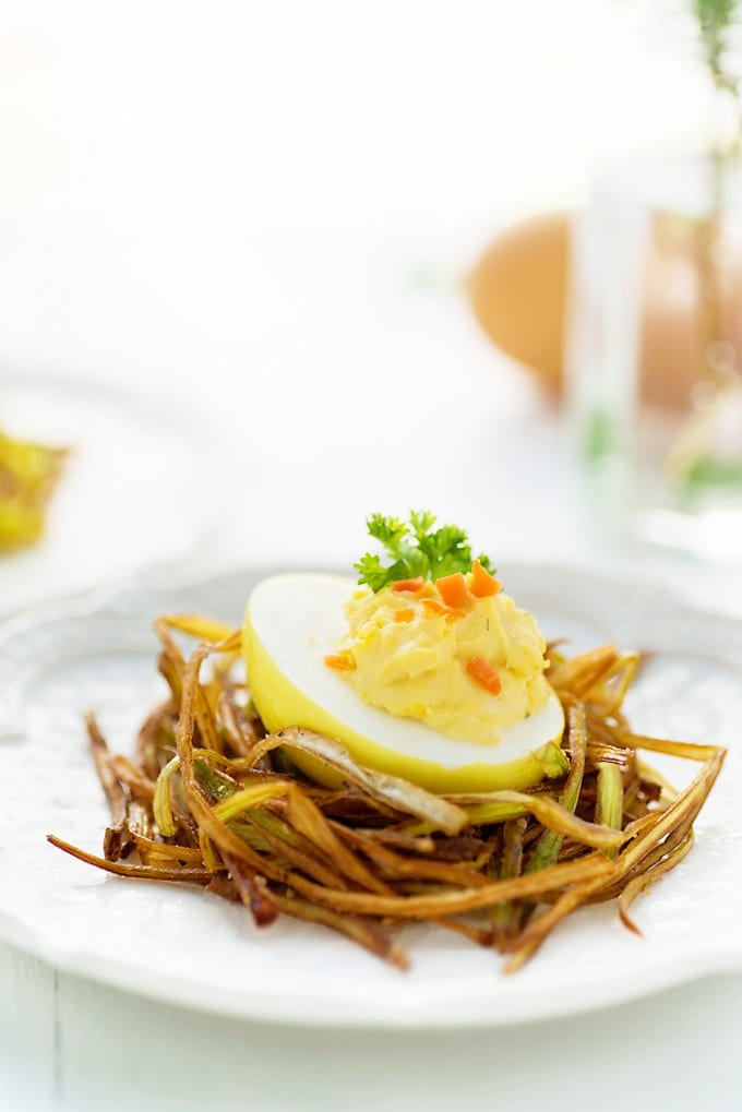 turmeric deviled eggs