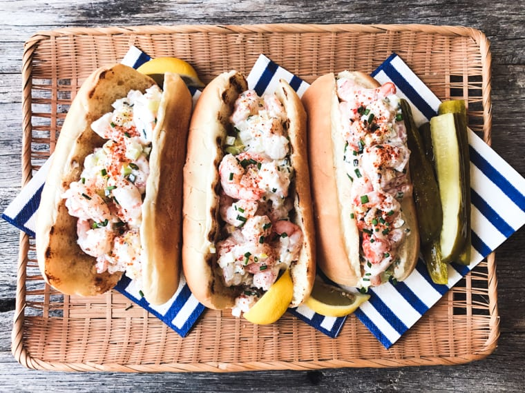 New England Style Shrimp Rolls ~ this is the stuff foodie memories are made of...jumbo chunks of wild caught shrimp simply tossed with mayo and lemon and then stuffed into a butter toasted bun ~ life (and lunch!) doesn't get any better.