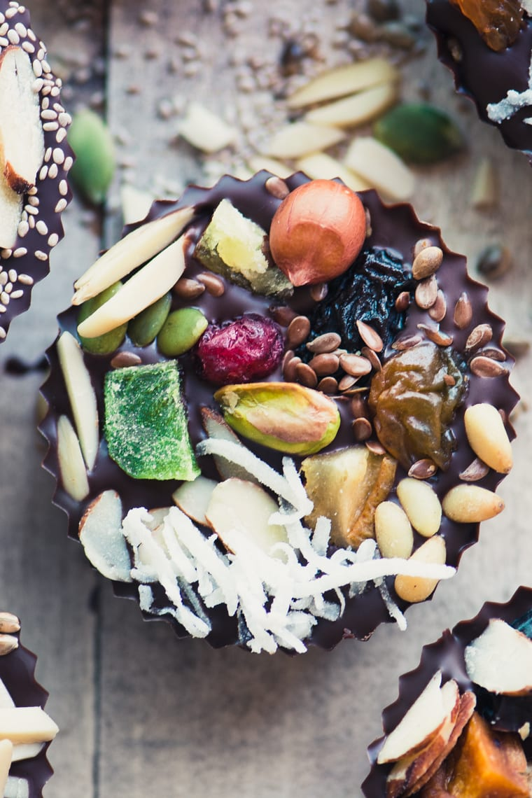 The Fruit Adds Sweetness And Color And The Nuts And Seeds Add The Perfect Earthy Crunch To A Classic Nut Butter Filled Chocolate Cup