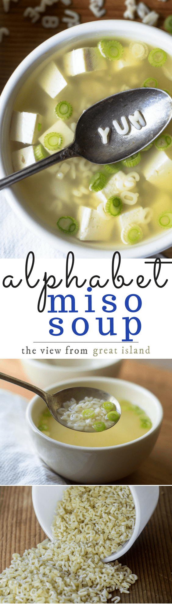 Miso Alphabet Soup ~ healthy, easy, and fun Miso Alphabet Soup is a 15 minute meal that introduces kids of all ages to a classic Japanese dish. #japanese #healthy #noodlesoup #misosoup #lunch #kidslunch #healthylunch #alphabetsoup #bestmisosoup #misorecipe #lowcalorie #30minutemeal #soup #miso #misopaste
