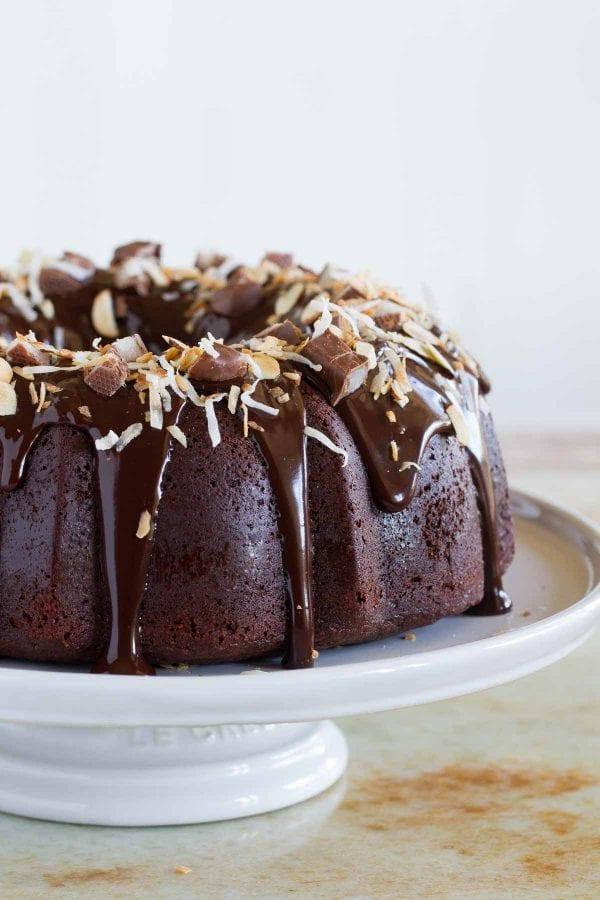 almond joy bundt cake