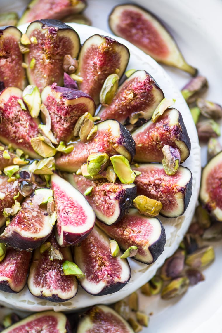 Fig topped baked brie