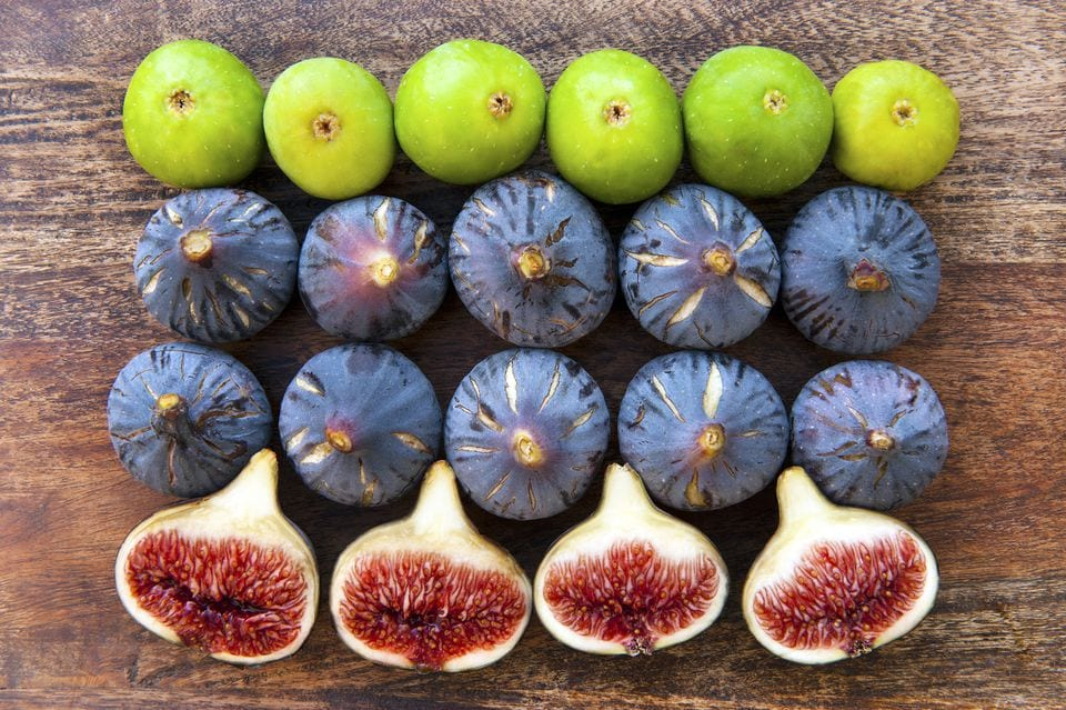 multi-colored figs