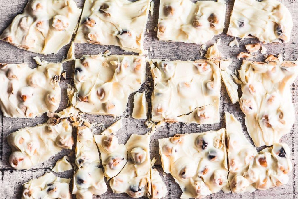 Easy 2 Ingredient Toasted Hazelnut Bark