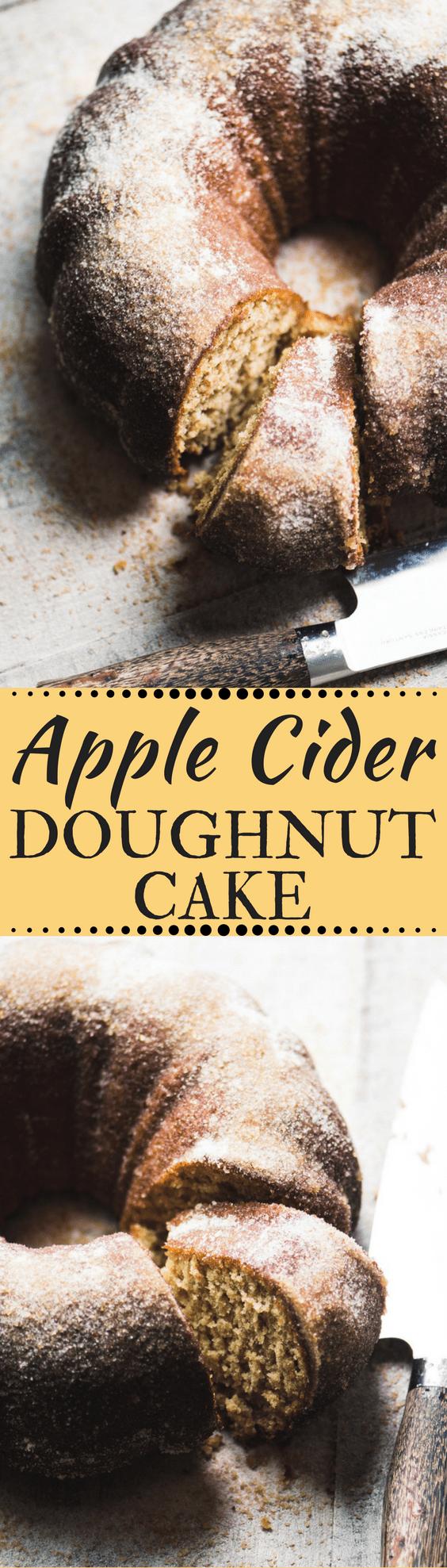 Apple Cider Doughnut Cake ~ a warm cinnamon apple bundt cake that tastes just like the iconic apple cider doughnuts you love. #cake #ciderdoughnuts #poundcake #bundtcake #cidercake #applecake #bestapplecake #dessert #fallrecipe #recipe #fall #apples #bestbundtcake #easy #coffeecake #brunch