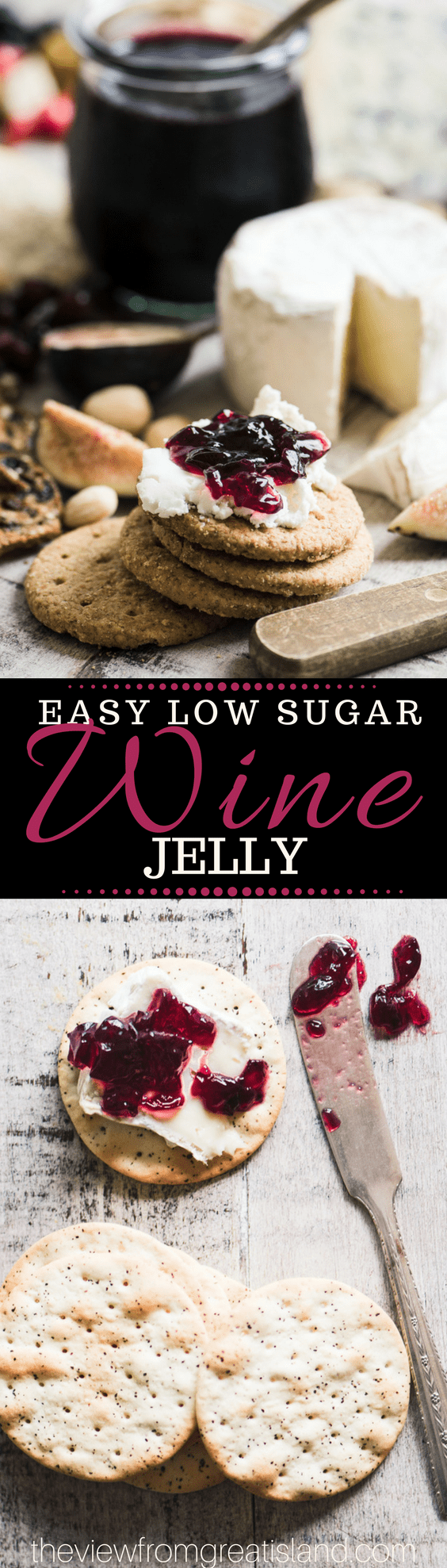 This Easy Low Sugar Wine Jelly Recipe