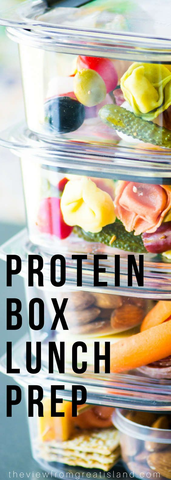 Easy Lunch Prep with Three Bridges Tortellini ~ these energy packed protein boxes made with mini tortellini skewers will set you up for healthy lunches and snacking! #mealprep #lunchprep #healthysnacks #healthylunch #lunchbox #backtoschool #kidslunch #skewers #pasta