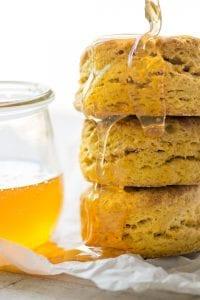pumpkin spice biscuits with honey