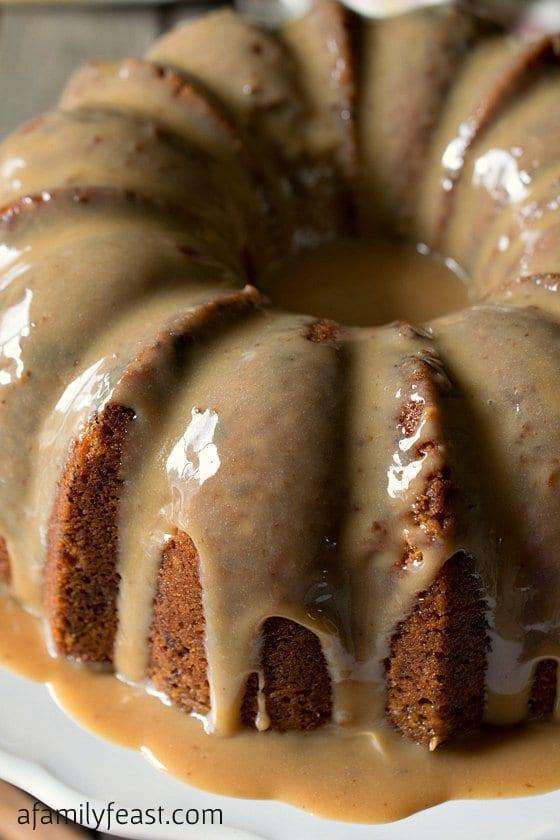 toffee cake, glazed