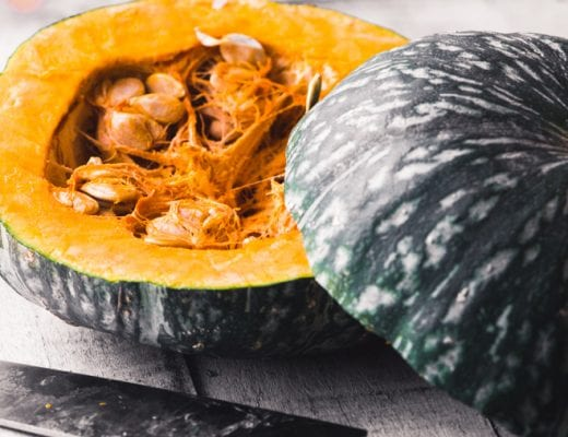 Winter squash, cut in half