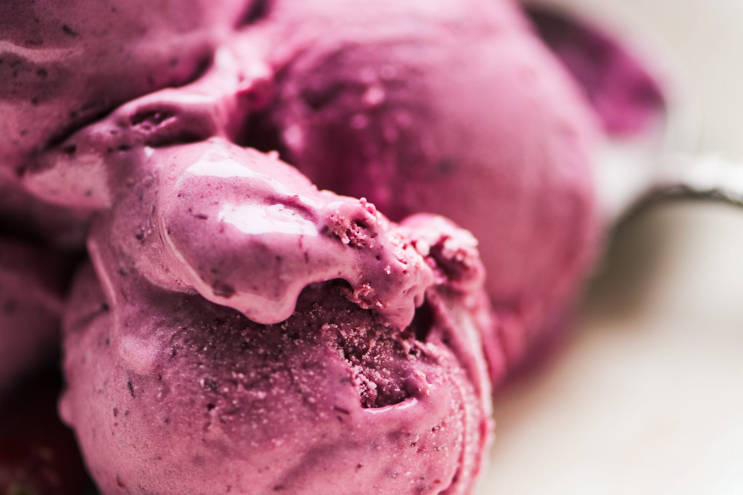 No Churn Cranberry Ice Cream