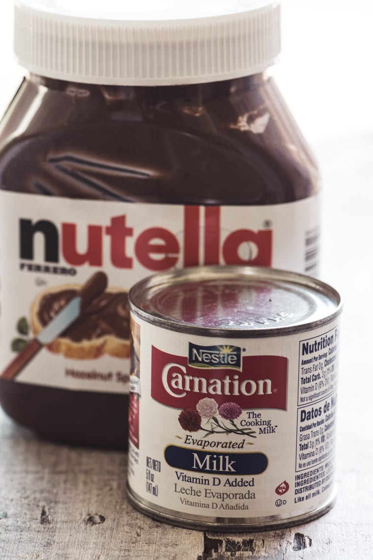 ingredients for Drinkable Nutella