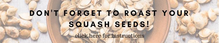 squash seed roasting