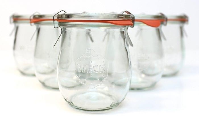 Weck jam jars
