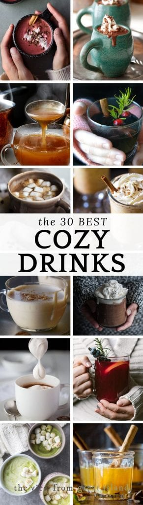cozy drinks pin