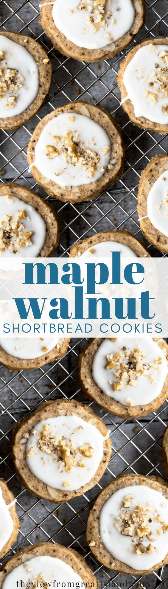 Maple Walnut Shortbread Cookies ~ maple infused and packed with nuts, this takes my classic slice and bake shortbread cookie recipe to a whole new level. #cookies #sliceandbake #holidaycookies #shortbread #shortbreadcookies #walnuts #maple #frostedcookies #Christmascookies #dessert #maplewalnut