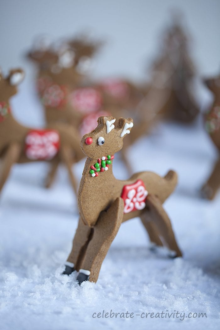 Rudolph gingerbread cookies
