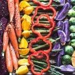 Easy Roasted Rainbow Vegetables