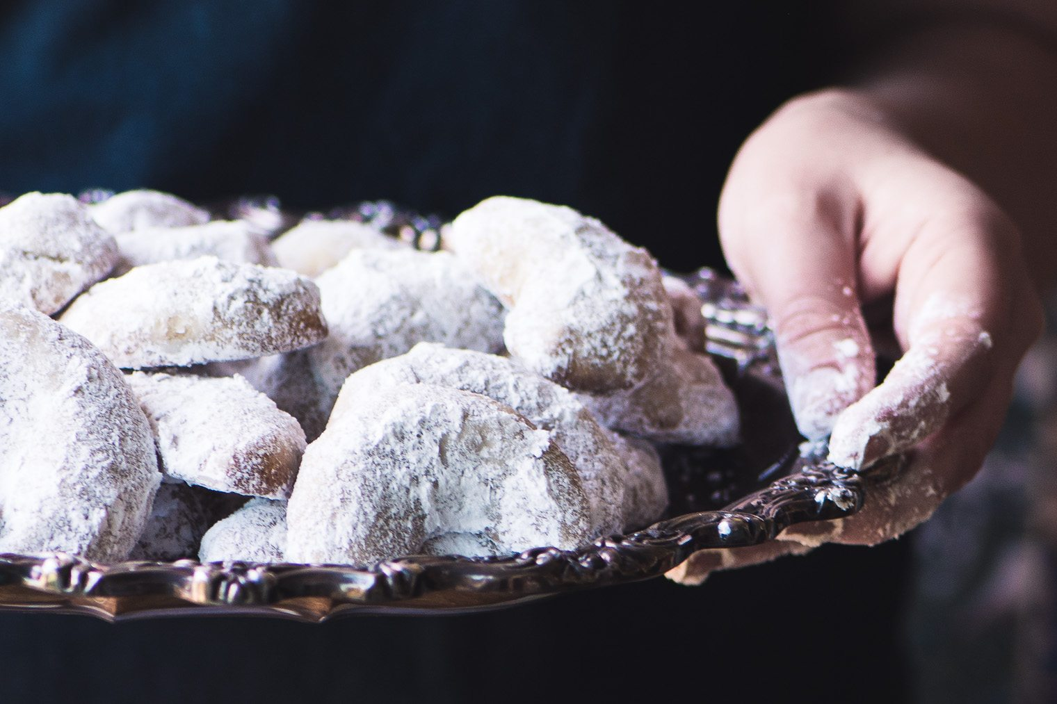 Cardamom Walnut Crescent Cookies | The View from Great Island