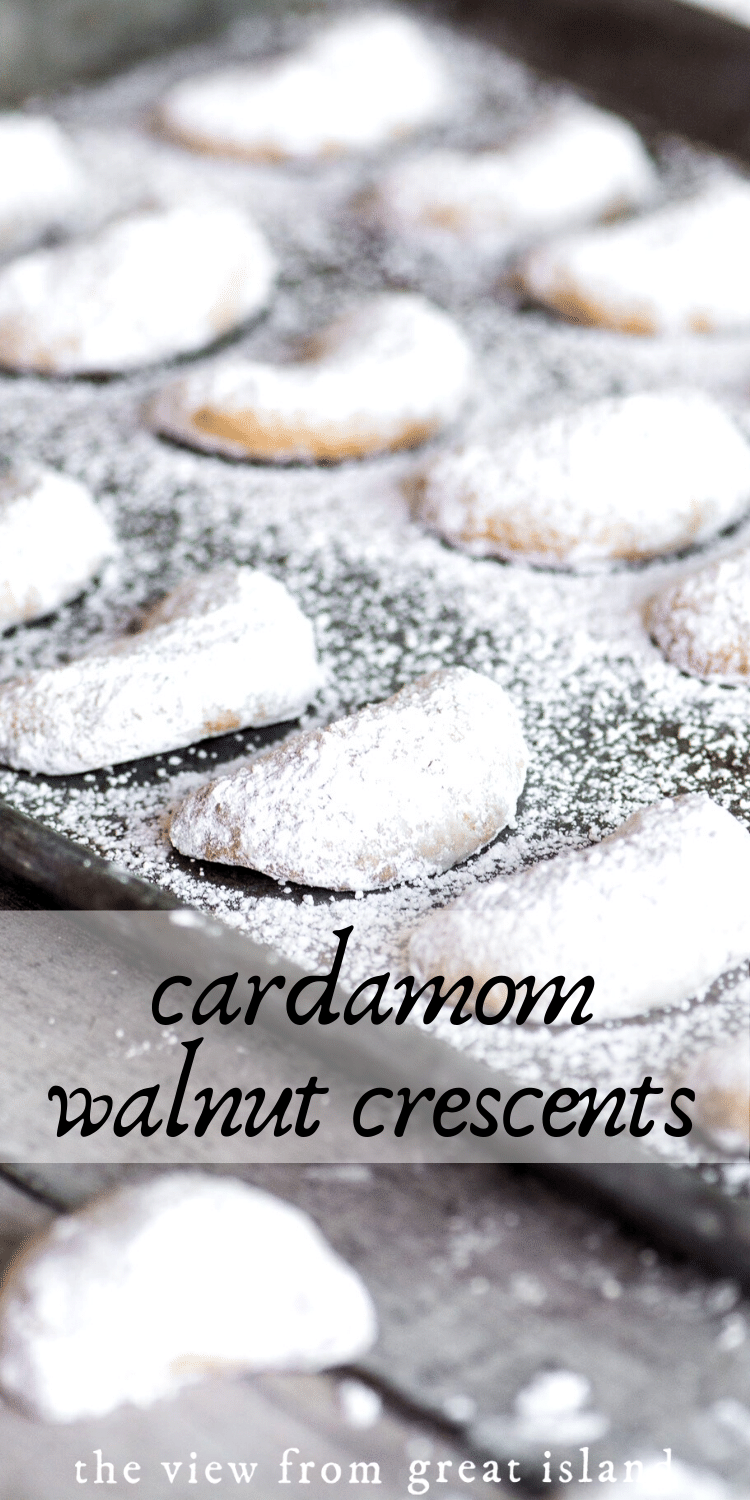 cardamom walnut crescents pin