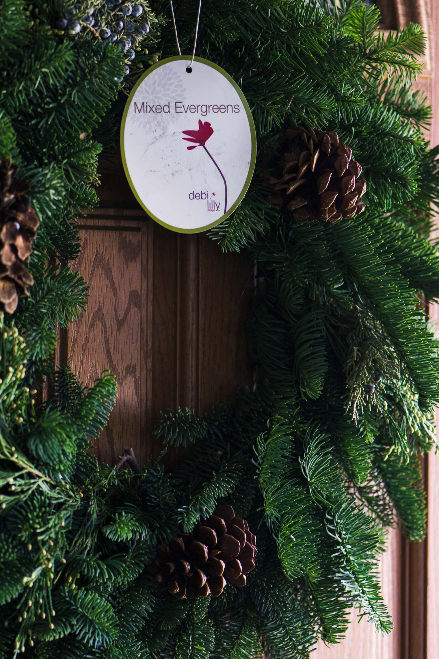 a holiday wreath