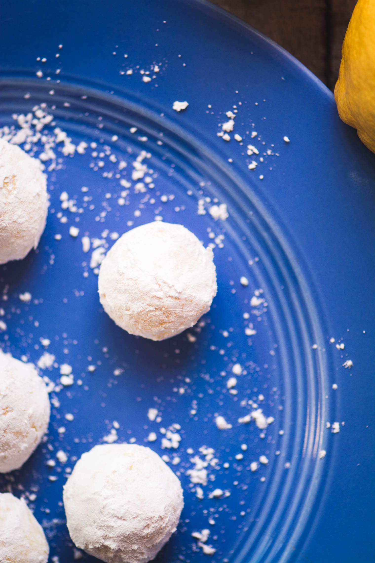 Fresh Lemon Truffles coated in sugar image