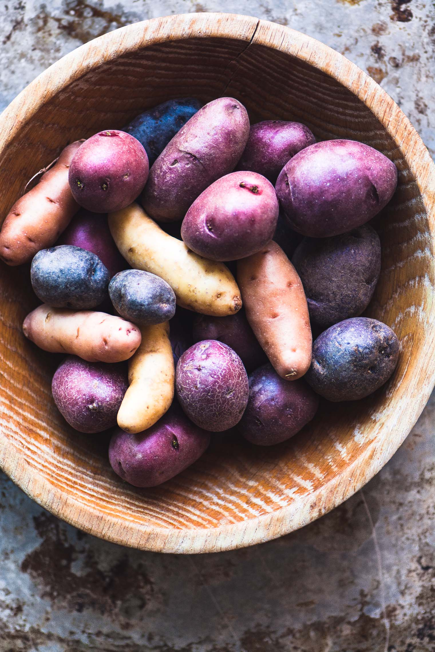 Rosemary Roasted Rainbow Potatoes imagery