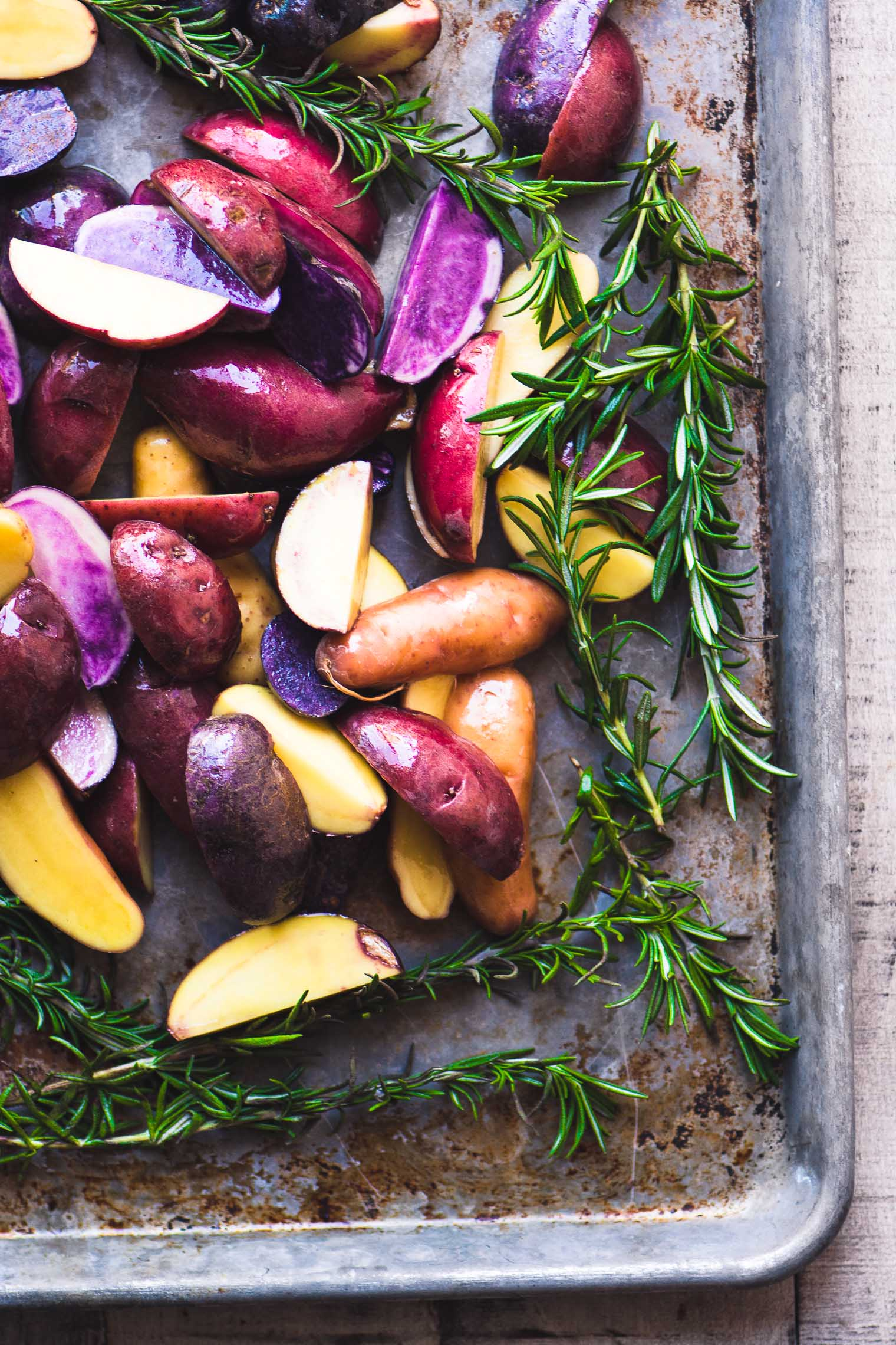 Rosemary Roasted Rainbow Potatoes image