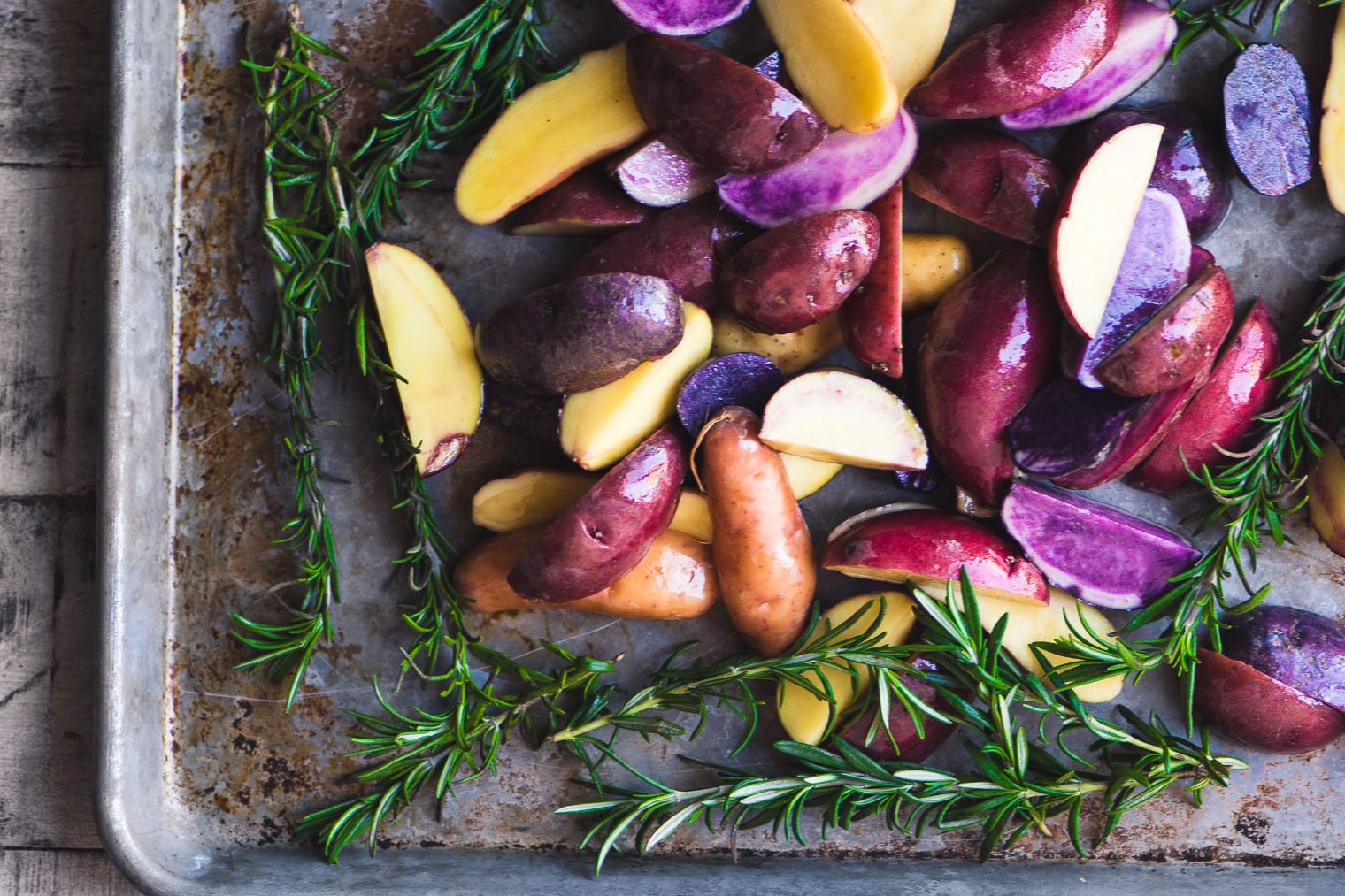 Rosemary Roasted Rainbow Potatoes photo