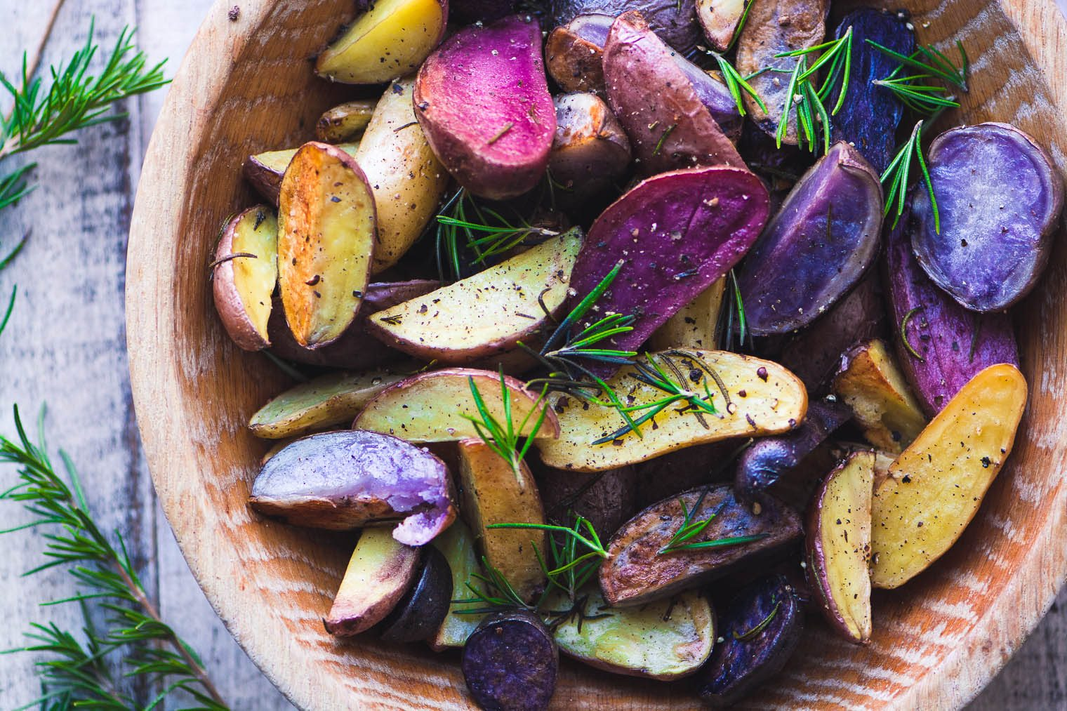 Rosemary Roasted Rainbow Potatoes photograph