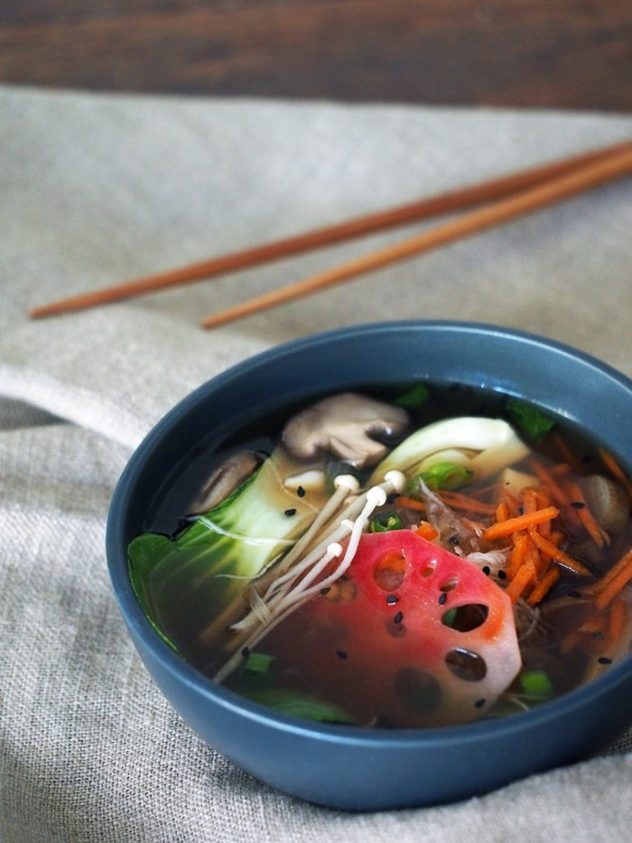 ginger and daikon healing miso soup