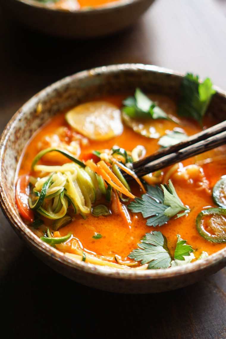 noodles in red broth
