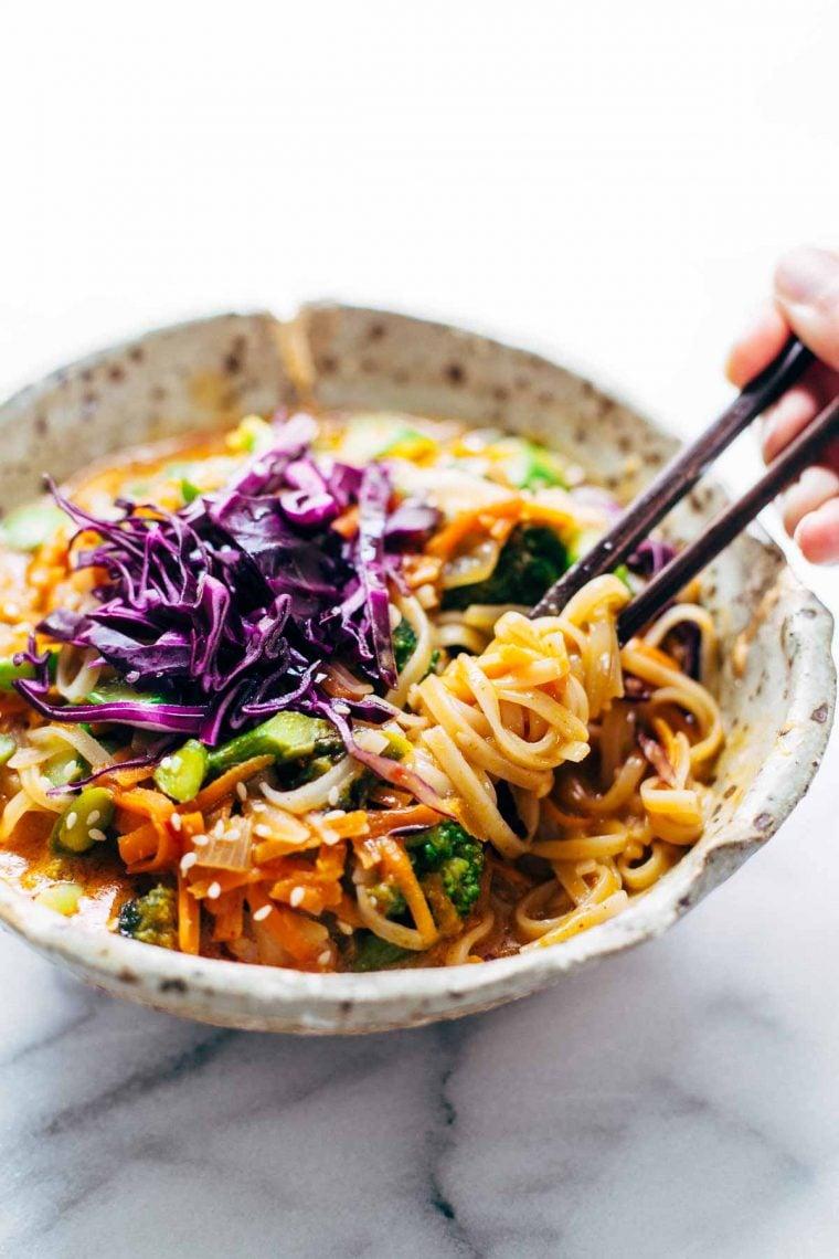 curry noodle bowl