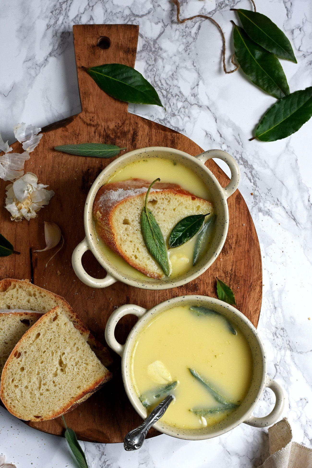 garlic sage cure-all soup