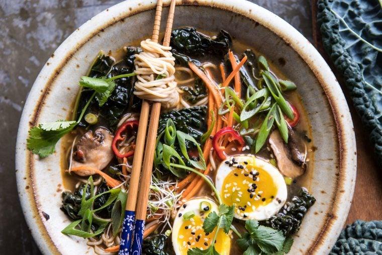 colorful ramen bowl