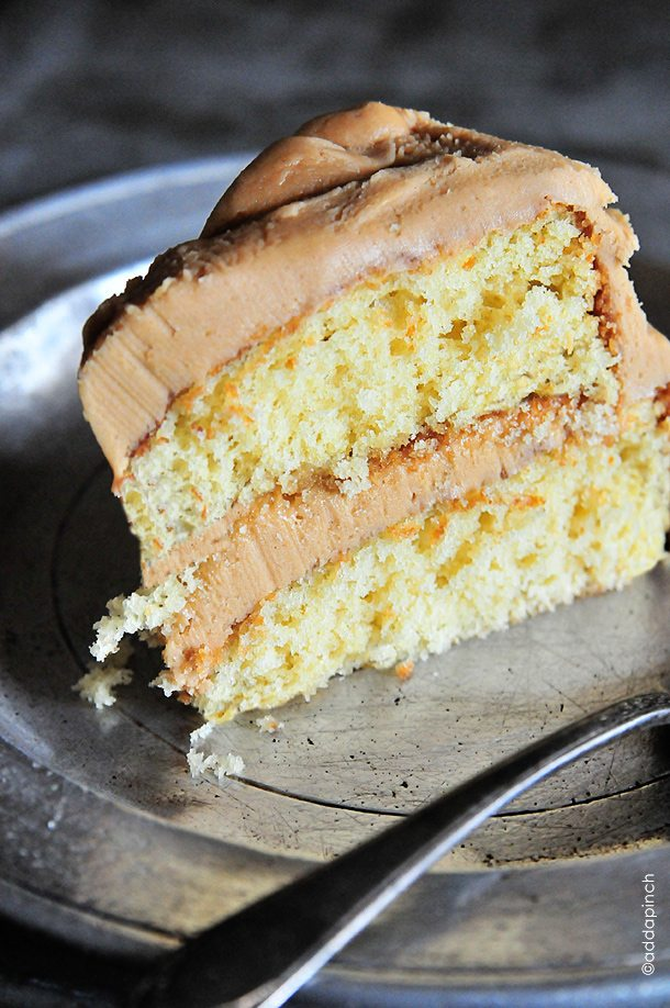 butter cake with salted caramel frosting