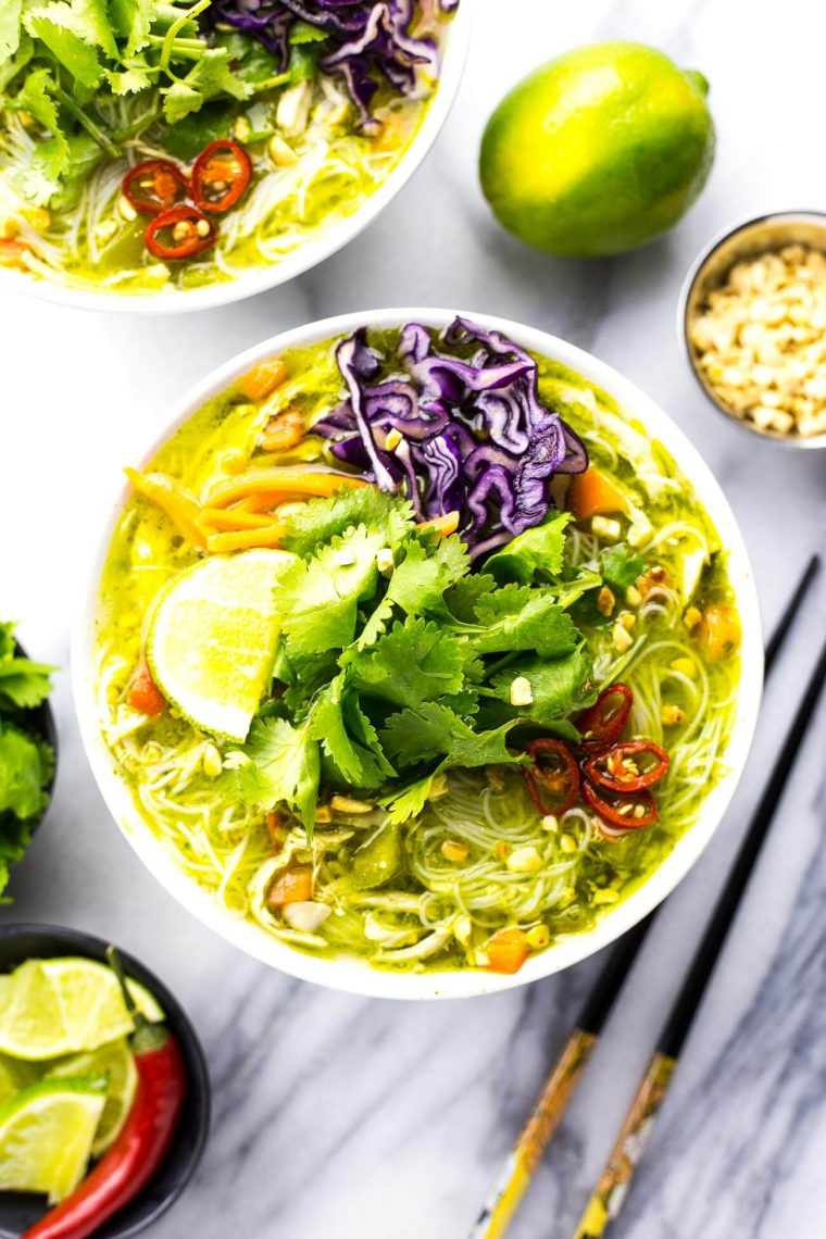pho noodles in a bowl