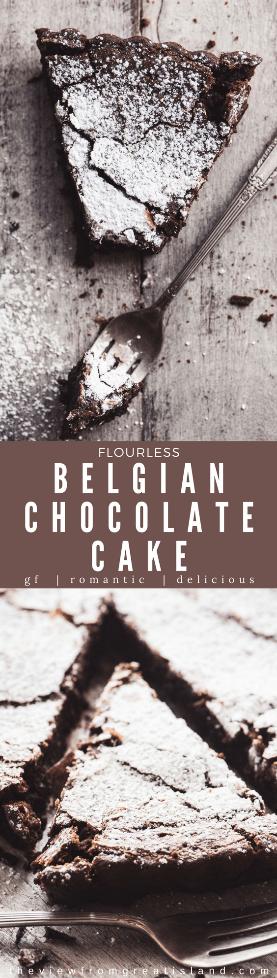 This Flourless Belgian Chocolate Cake is a chocolate lovers dream, and everybody needs a great gluten free chocolate dessert in their recipe repertoire. This easy chocolate cake makes an elegant base for any fancy toppings you might want to add, too, from fresh berries to spiked whipped cream. #dessert #glutenfree #chocolate #cake #chocolatetart #glutenfreecake #bestflourlesschocolatecake #bestchocolatecake #darkchocolate #almondflour #belgiancake #flourlesscake