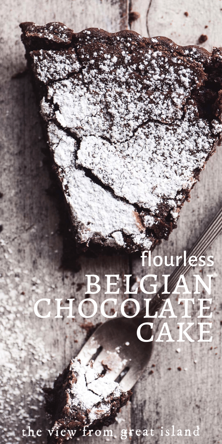 Flourless Belgian Chocolate Cake pin.