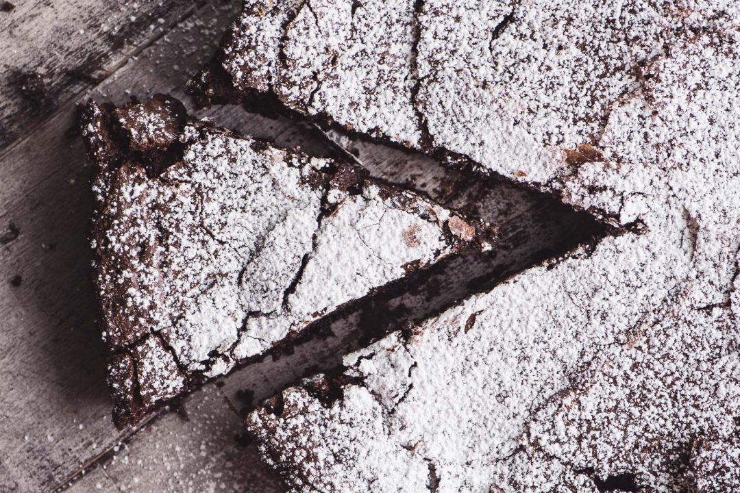 flourless Belgian chocolate cake
