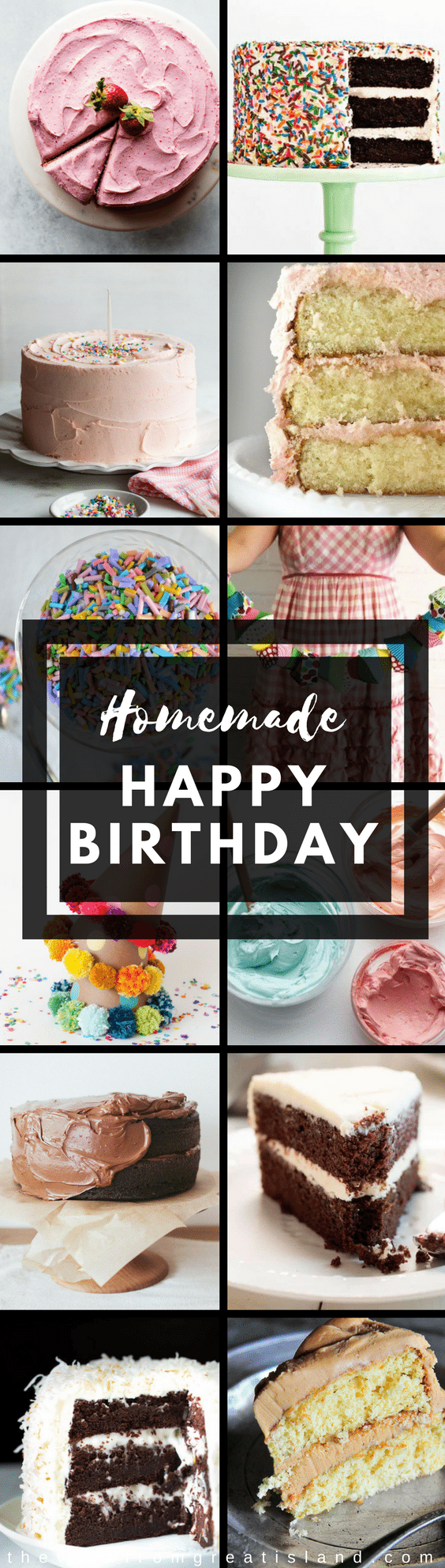 What to Bake Now: Birthday Cakes ~ it's my birthday, and I've got birthday cakes on the brain!  Everybody's got their own idea about what makes a cake a birthday cake, but first and foremost, it has to be homemade.  Here are some of my favorite ways to celebrate that special day, homestyle! #cake #birthday #diybirthday #diybirthdaygarland #diycaketoppers #handmadebirthdaycandles